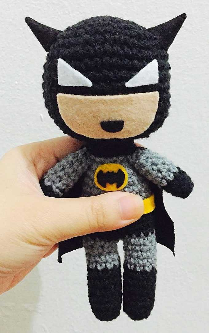 Batman Amigurumi [CROCHET FREE PATTERNS] #freecrochetpatterns ... | 1080x680