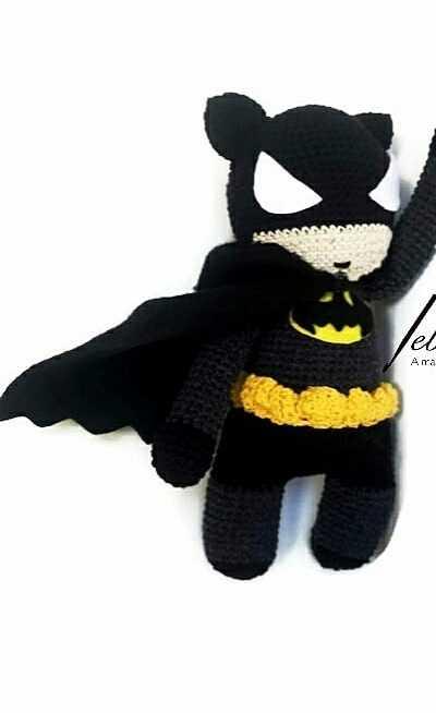 PDF Pattern Batman plush cute crochet batman pattern DC | Etsy | 654x400