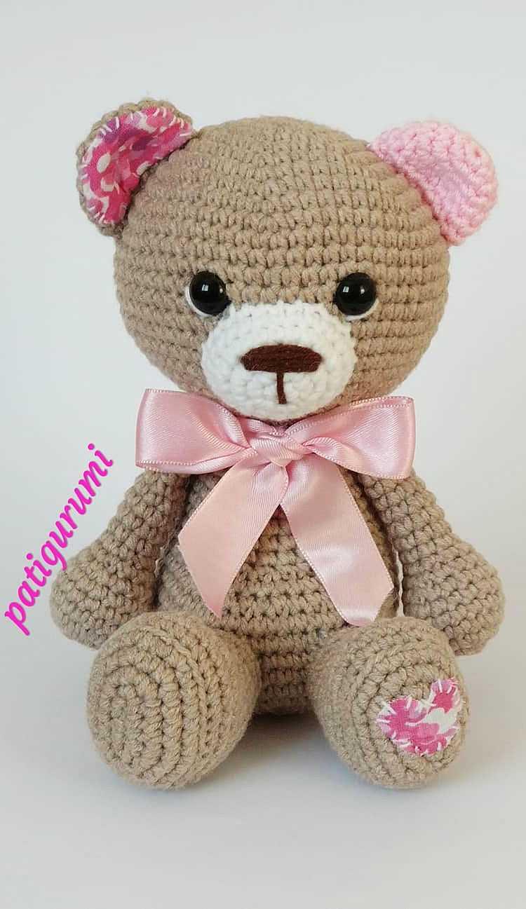 Crochet bear amigurumi pattern | Amiguroom Toys | 1297x750