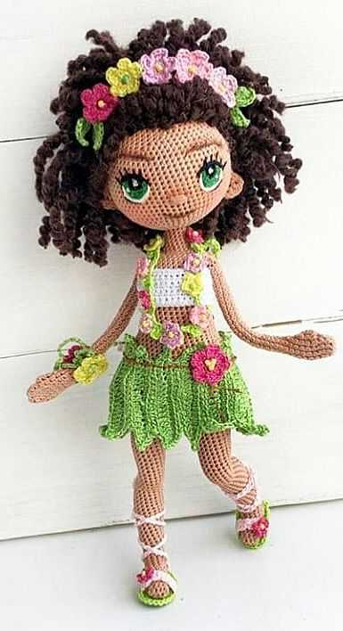 Hawaiian Girl Hula Dancer Crochet doll amigurumi Hi'iaka Home ... | 708x385
