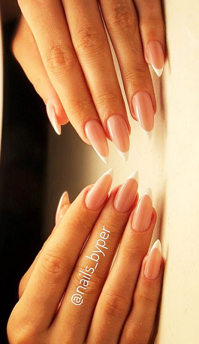 matte-and-polished-french-nail-designs-featuring-acrylic-art