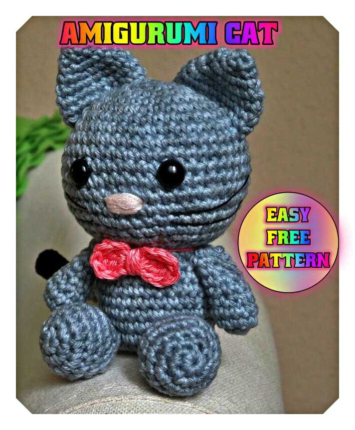 Amigurumi Pattern for Glamour Pussycat. Crochet Lady Kitten ... | 864x712