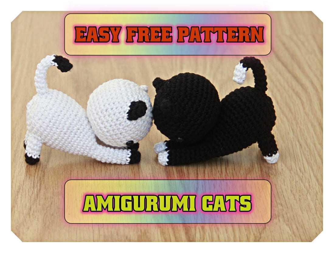 Amigurumi Cat Crochet Pattern Easy Video Tutorial   832x1098