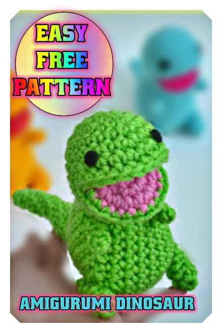 Tiny Dinosaur Amigurumi - Free Pattern | Crochet toys free ... | 660x440