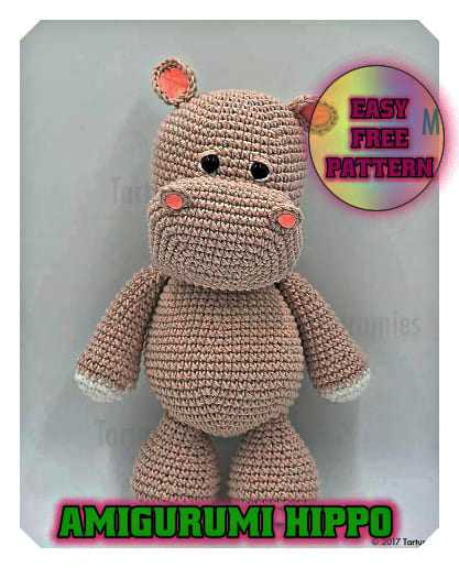 Amigurumi Pattern: Baby Kit - Hippo Melman - Tarturumies | 516x417